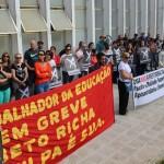 Trabalhadores de várias categorias manifestaram contrariedade à reforma da previdência - foto APP-Sindicato-Foz