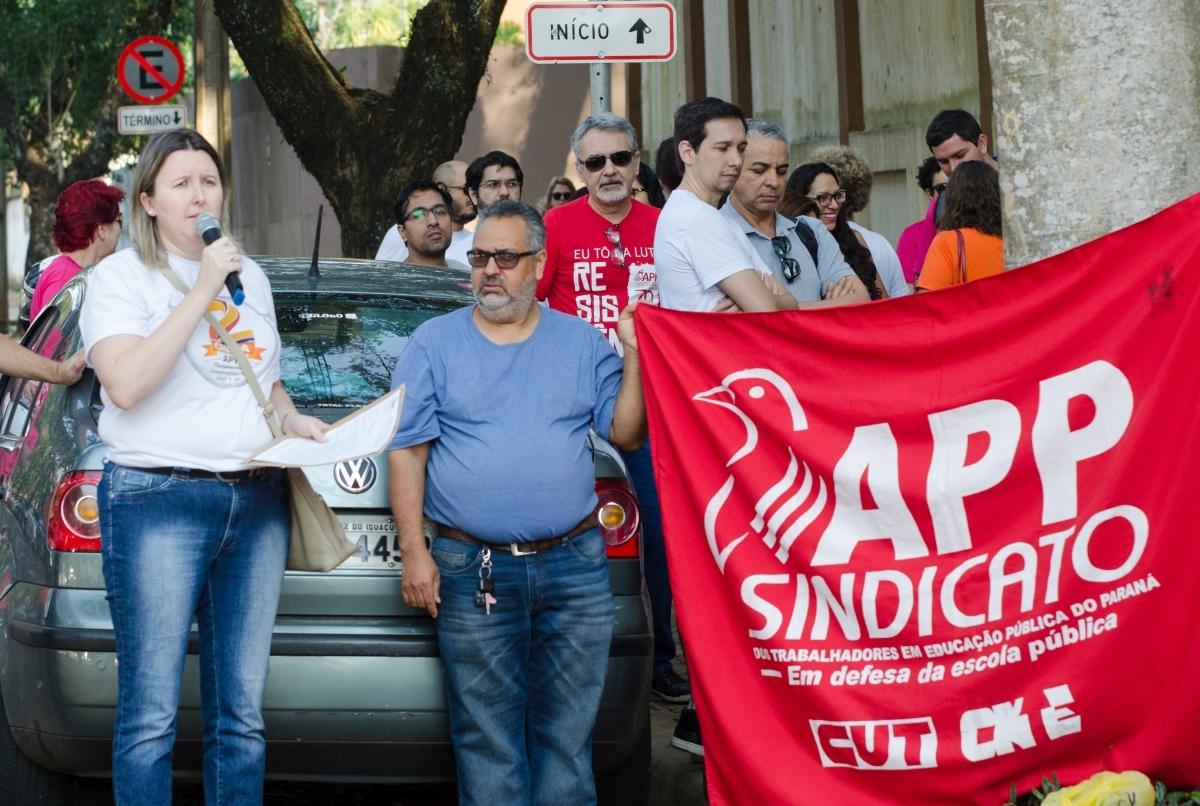 """Cátia Castro: """"Escolas sem nenhum funcionário/a em determinados turnos - foto Marcos Labanca"""