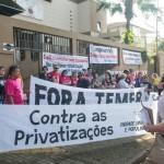 Educadores protestaram contra as reformas e as privatizações - foto Marcos Labanca