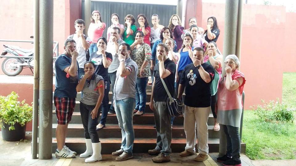 Educadores de Foz protestam contra a Lei da Mordaça - Arquivo APP-Sindicato/Foz