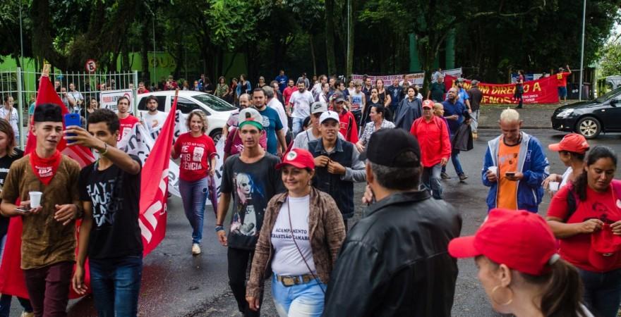 Trabalhadores/as de Foz protestam contra a reforma da Previdência