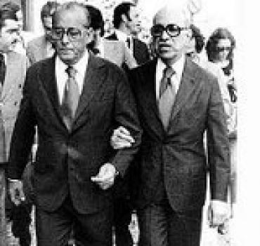 Roberto Marinho com o ditador Figueiredo