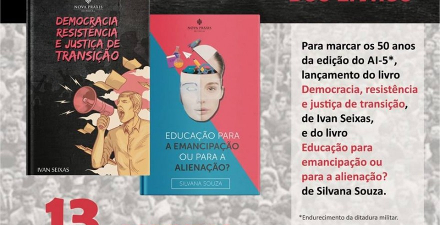 Educadores(as) e militantes sociais de Foz lançam livros nos 50 anos do AI-5