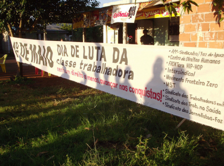 Dia do Trabalhador realizado no bairro Cidade Nova. Foto Carol Miskalo
