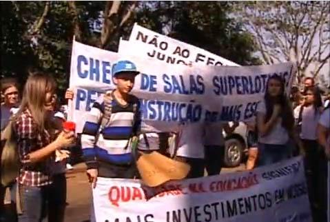 Protesto trabalhadores educação