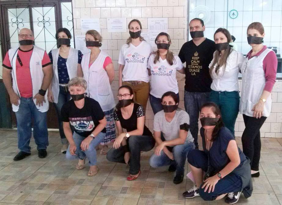 Educadores/as mobilizados contra a censura na educação - foto Arquivo APP-Sindicato/Foz