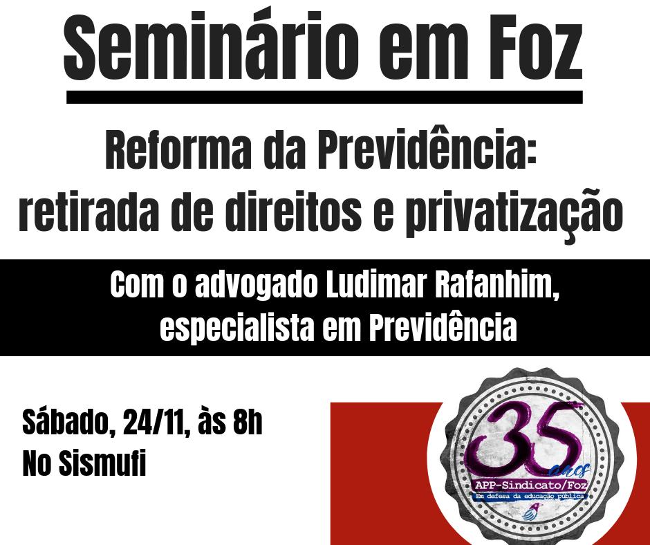 Conclusão do curso terá seminário sobre Previdência