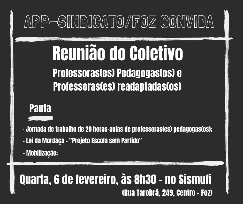 Sindicato convoca educadores de Foz do Iguaçu e região para o ato