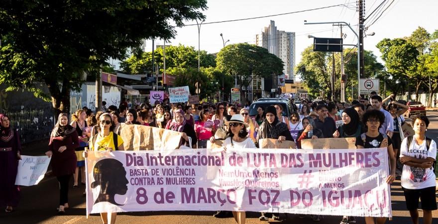 Marcha das Mulheres irá percorrer as avenidas centrais de Foz - foto Marcos Labanca-Arquivo