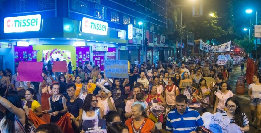 O fim da violência é a principal pauta da Marcha das Mulheres em Foz - foto Marcos Labanca-Arquivo
