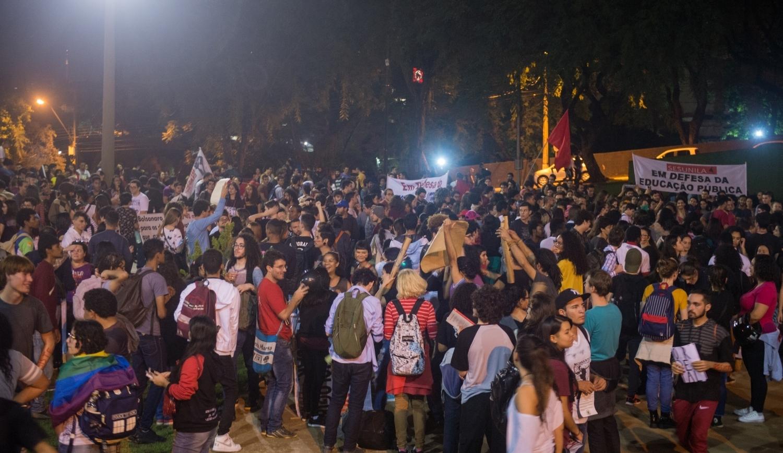 Praça da Paz foi um dos locais de concentração - foto Marcos Labanca