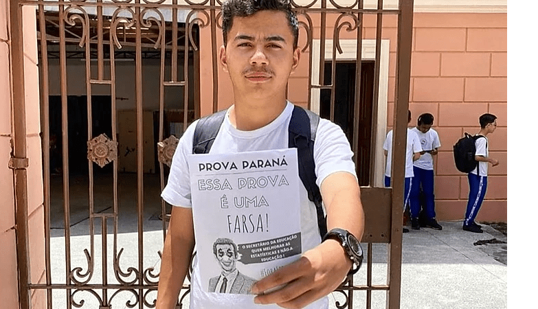 Estudantes anunciam boicote à Prova Paraná