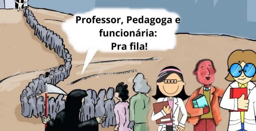 SEED autoriza convocação de educadores(as) no pico da pandemia; Feder transfere para diretores(as) o risco